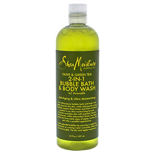 Shea Moisture Olive & Green Tea 2-in-1 Bubble Bath Anti-Agin