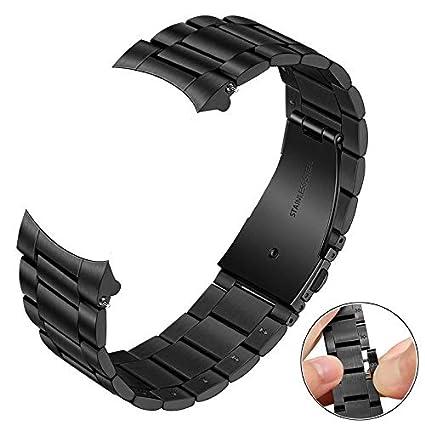 TRUMiRR Galaxy Watch 46mm Correa de Reloj de Metal, 22mm Correa de Reloj de Metal de Acero Inoxidable Banda de Repuesto para Samsung Galaxy Watch ...