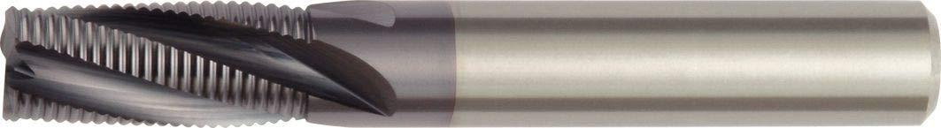 Straight Shank 0.3 mm Chamfer Carbide RH Cut 7 mm Cutting Diameter 3-Flute WIDIA Hanita 490607003RT 4906 HP Roughing End Mill TiAlN Coating