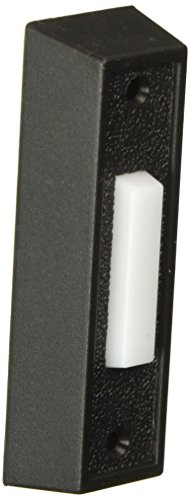 Rectangular Doorbell - THOMAS & BETTS DH1407L 0 Lighted White, Push Chime Button with Black Rectangular Housing