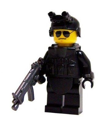 SWAT Team Helmet (Navy Blue) - LEGO Compatible Minifigure Piece