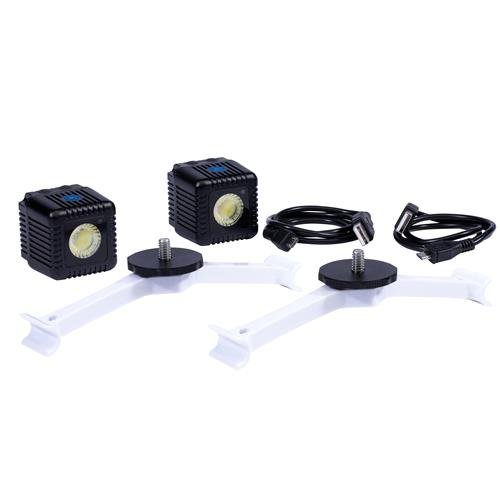 Lume Cube - Lighting Kit for DJI Phantom 4 Pro/Advanced Drone (White) (Includes 2 Lume Cubes and 2 Mounts) LC-P422