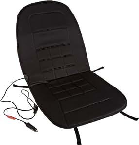AmazonBasics - Cojín con calefacción para asiento de coche (12 V, controlador de temperatura con 2 niveles), color negro