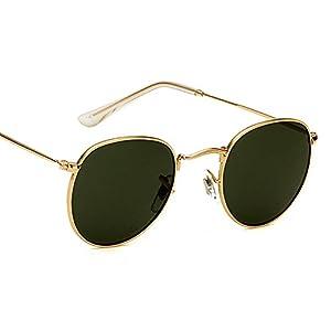 Eyerno Vintage Round Mirrored Unisex Sunglasses Retro Hippie Circle Glasses