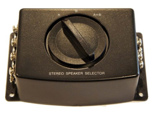A/b a B A+b Stereo Speaker Selector Switch Switcher Combiner 2 Way Black Box - Stereo Speaker Selector Switch