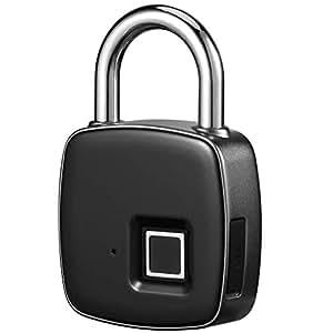 Fingerprint Padlock – RoMech Smart IP65 Waterproof Keyless Biometric Lock Gym, Locker, Door, Backpack, Luggage, Suitcase, Bike, Office, USB Charging (3rd Gen)