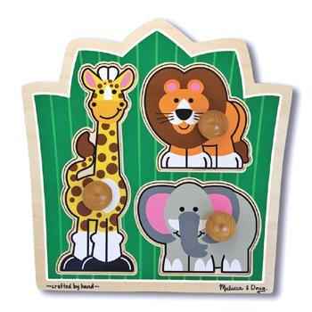7 Pack MELISSA & DOUG SAFARI JUMBO KNOB PUZZLE (Safari Knob Jumbo)