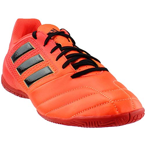 adidas Ace 17.4 in Men's Indoor Soccer Shoes (9.5, Solar Orange/Black/Solar Red) (Ball F50 Adidas Soccer Messi)