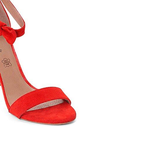 Pelle Ballerine R Fiocco Dettaglio Rosso Mademoiselle Donna in wREIg