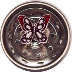Amazon Com Red Butterfly Flutter By Kitchen Sink Strainer