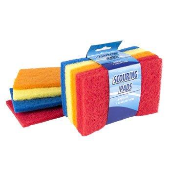 Scouring Pads, Pot Scrubber, Dish Scrubber, Scrub Sponge, 4X6 (2 Pack)