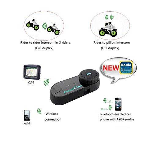 Amazon.com: Motorcycle Helmet Bluetooth Speakers FreedConn T-COMVB Motorcycle Intercom Bluetooth Headset for Motorbike Skiing Range-800M/2-3Riders ...