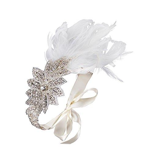 Babeyond bandeau serre tête couronne diamanté femme vintage pour les années 1920 gatsby le magnifique