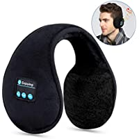 Bluetooth Earmuffs Headphones,Topoint Unisex Foldable Winter Ear Warmers Wireless Music Bluetooth Headsets with Microphone for Outdoor Sports, Travel, Black