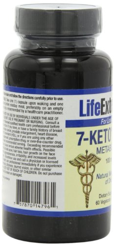 Life Extension 7-Keto DHEA 100 Mg, 60 vegetarian capsules