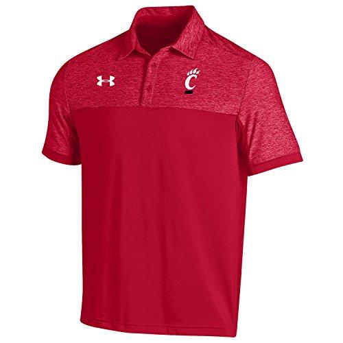 NCAA Cincinnati Bearcats Men's Sideline Podium Coach's Polo Shirt, X-Large, Red