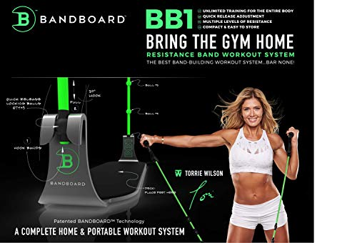 BandBoard BB1 • Torrie Wilson • Bring The Gym Home • The Best Band-Building Workout System – BAR None! Includes BB1 Board + Set of Level 2 BB1 Bands + Carrying Case + Workout Guide