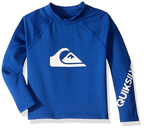 (Quiksilver Big Boy's All Time Long Sleeve UPF 50 Rashguard, Electric Royal, 3)
