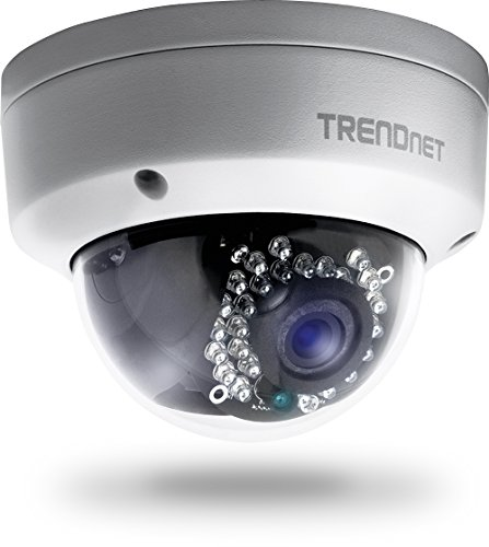 TRENDnet Indoor/Outdoor 1.3 Megapixel HD PoE IR Dome Style Network Camera, Digital WDR, 720p, IP66 Rated Housing, 82ft. Night Vision, ONVIF, IPv6, TV-IP321PI by TRENDnet