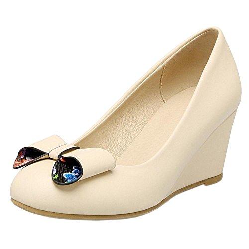 Coolcept Zapatos de Tacon Cuna para Mujer Apricot-1
