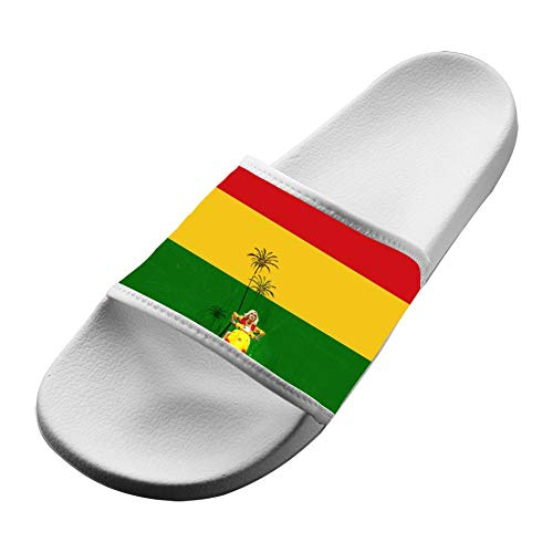 SsSEYYA Anti-Slip Indoor Floor Sandal Bath Slipper Reg-gae Rasta Flag for Women Men White Women 7 (M) US (Weed Sonnenbrille)