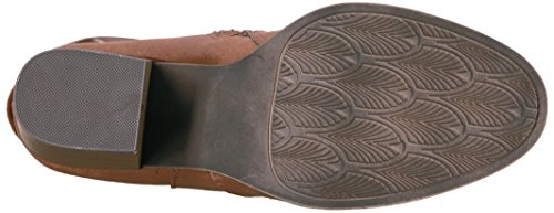 Jellypop Womens Chelsey Western Boot Cognac In Pelle Scamosciata Come
