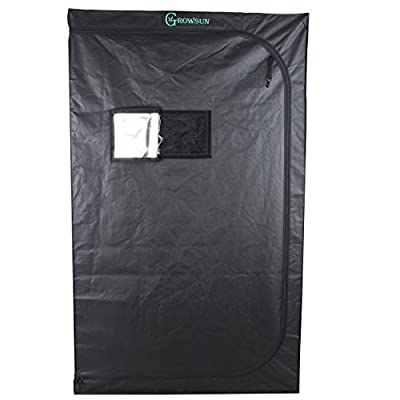 """Growsun 48""""x24""""x48"""" Grow Tent 4x2, Indoor Hydroponic Growing Tent 48 Inch Width for Plant"""