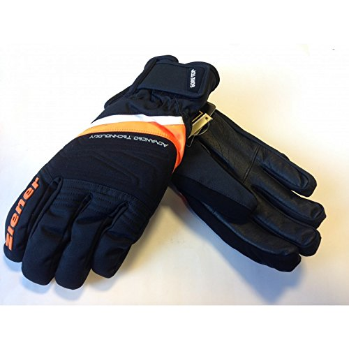 (Ziener Geyser GTX XCR Gloves, Men, Neon Orange, 8.5)
