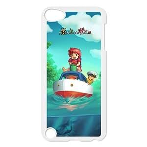 Ponyo funda iPod Touch 5 caja funda del teléfono celular blanco cubierta de la caja funda EEECBCAAL15367