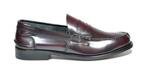 Saxone Of Scotland Men's Loafer Flats Red Bordeaux 83aXtN
