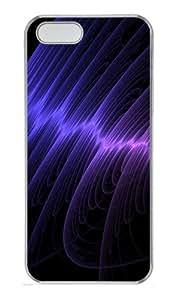 Circular waves Custom PC Hard Plastic Case for iPhone 5/5S Transparent