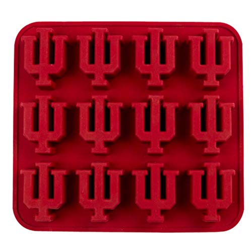 Fanpans NCAA Indiana Hoosiers Ice Trays & Candy Mold, One Size, Maroon -