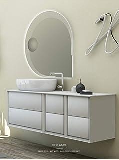 mobile bagno sospeso moderno floreale miami bianco lucido, misura ... - Mobili Moderni Miami