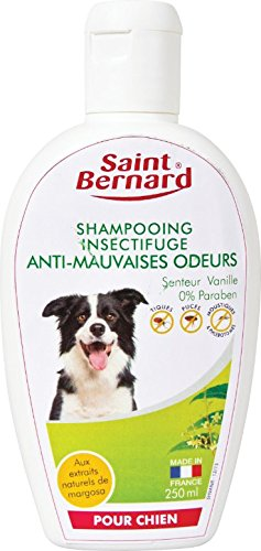 SAINT BERNARD Shampooing Anti-Mauvaises Odeurs pour Chien Vanille 250 ML 62002