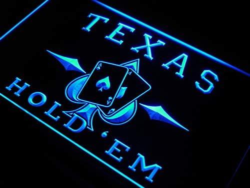 ADVPRO Texas Holdem Poker Casino LED Sign Neon Light Sign Display s217-b(c)