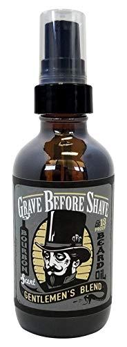 GRAVE BEFORE SHAVE Gentlemen's Blend Beard Oil (Bourbon/Sandal Wood Scent) 4 oz. BIG BOTTLE