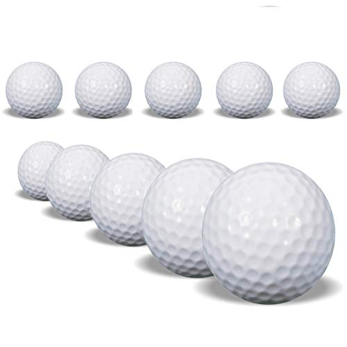 SOWOFA Golfer Golf Balls Kits Toys Plastic Indoor Outdoor Practice Toy Balls 41mm for Golfer Kids Children White 10PCS