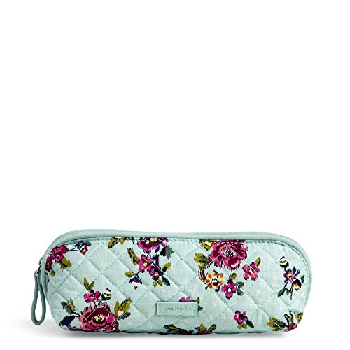 Petite Bouquet Pattern - Vera Bradley Iconic Brush and Pencil Case, Signature Cotton, Water Bouquet