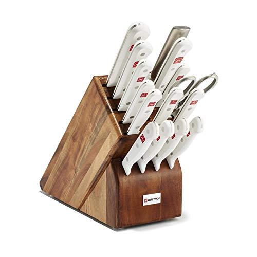 Wüsthof Gourmet Knife Block Set, One Size, Beechwood Block, Stainless Knives