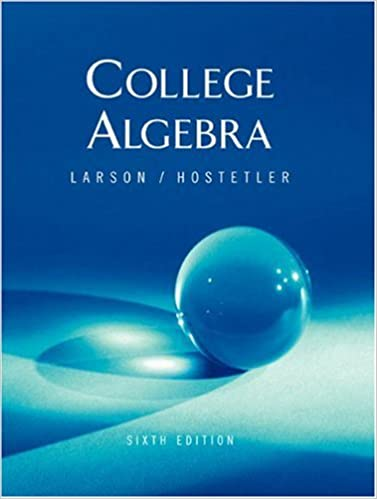 College Algebra: Larson, Robert P. Hostetler: 9780618313853: Amazon ...