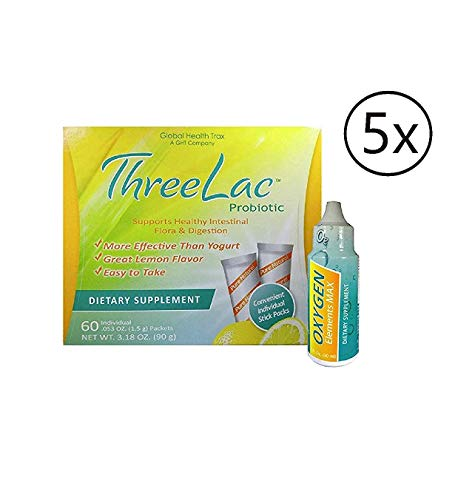ThreeLac Candida Probiotic Defense Oxygen Elements Max Dietary Supplement (1 fl.oz) 1 Pack