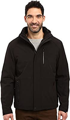Calvin Klein Mens Softshell Hoodie with Faux Sherpa Lining