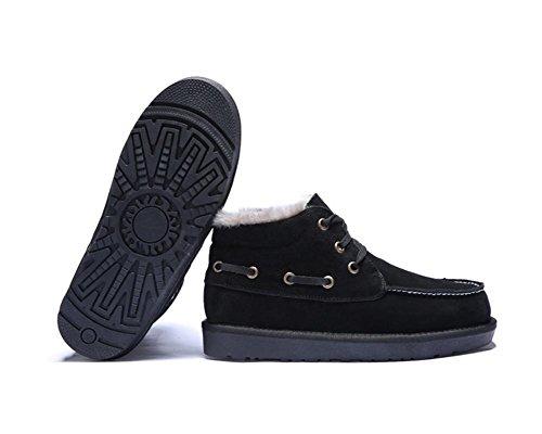 casuale uomo 44 black scarpe da peluche neve da calde antiscivolo Stivali invernali oversize ispessimento HaIqxBw