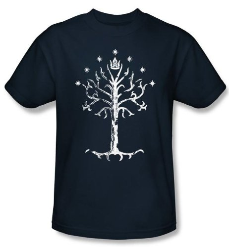 The Lord Of The Rings Kids T-Shirt Tree Of Gondor Navy Tee Shirt Youth, Kids Medium (Lord Of The Rings Book Shirt)