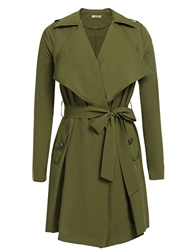 Lightweight Belted Trench Coat - 6