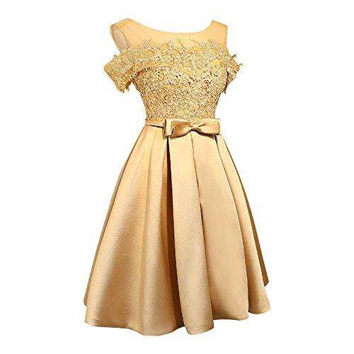 Kleid gold spitze