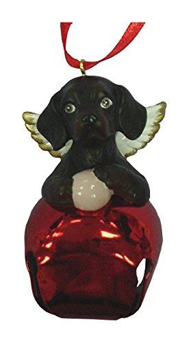 StealStreet SS-D-BL010-B Christmas Holiday Black Dachshund Dog Ornament Bell Figurine, Red