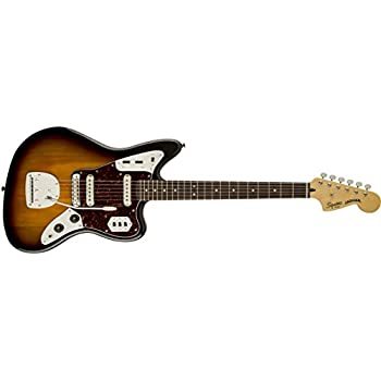 Squier by Fender Vintage Modified Jaguar Electric Guitar, Rosewood Fingerboard, 3-Tone Sunburst