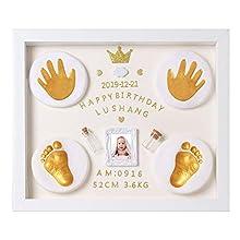 Nifyto Baby Handprint Footprint Ornament Keepsake Kit, Baby Nursery Memory Art Kit, Baby Shower Gifts, Xmas Gifts, Precious Moment for Newborn,Baby Boy/Girl, Personalized Baby Prints