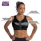 Enell Women's High Impact Sports Bra, Black, 4